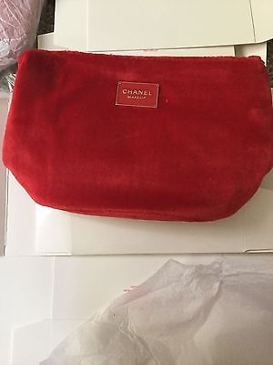 NIP USA Chanel Beauty red velvet Cosmetic Makeup Bags pouch VIP Gift