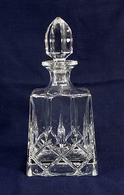 Bevel Hand Cut Crystal Glass Liquor Decanter Vintage Barware Whiskey Spirits Rum