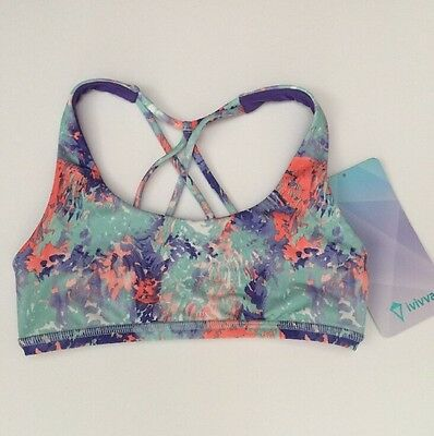 NWOT IVIVVA Namaste Everyday Sports Dance Cheer Tennis Yoga Bra Top Size 7