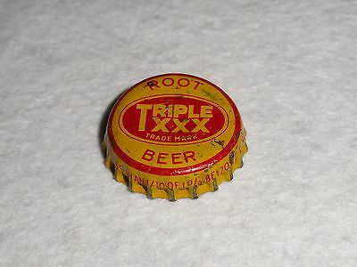 "Rare Used ""triple Xxx Root Beer"" Bottle Cap"