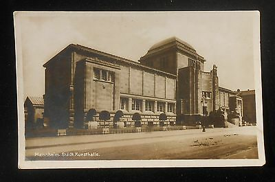 RPPC 1900s Stadt Kunsthalle Art Gallery Mannheim Germany Baden-Württemberg Co