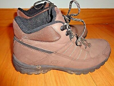Womens Shoes EASY SPIRIT Size 8 W BROWN Leather HIKING WALKING SHOES BOOTS