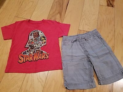 Boy's Epic Threads Summer Set Size 4 - Star Wars T-Shirt with Gray Shorts