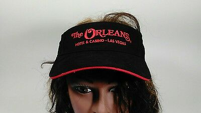 The Orleans Hotel & Casino Las Vegas Black Visor Hat