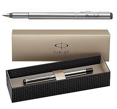 Personalised Engraved PARKER Vector Stainless Steel Fountain Pen Parker UK