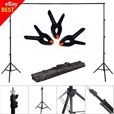 10Ft Adjustable Background Support Stand Photo Backdrop Crossbar Set Photography
