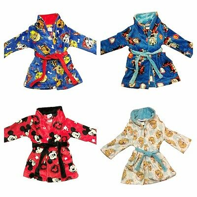 NEW Winter Dressing Gown Pyjamas Boy Girl Paw Patrol Thomas Mickey Frozen Sz 1-4