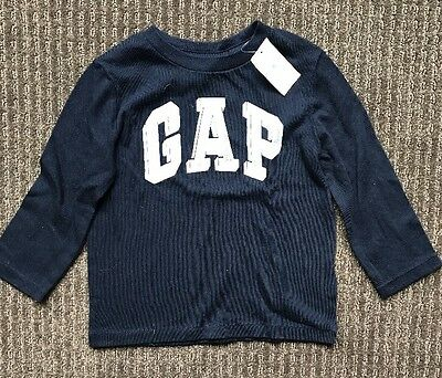 Gap Baby Toddler Boy Blue Long Sleeve Tops Size 2, 18-24 Months BNWT New