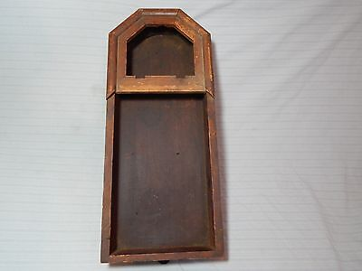 "Antique Wooden Clock Case Wall 21"" x 9"""