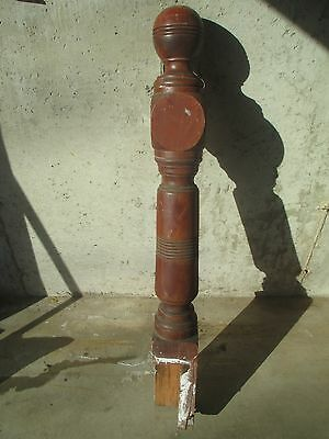 """48 1/8""""H Interior Newel Post - Cannonball Top - Antique Architectural Piece"""