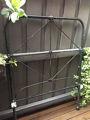Antique Wrought Iron Single Bed