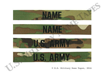 2 U.S. Army ACU Scorpion OCP Name & Service Tape Sets for Sew-On Only