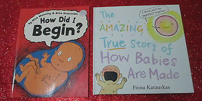 SEX EDUCATION Children's Picture Books x 2 -HOW BABIES ARE MADE, HOW DID I BEGIN