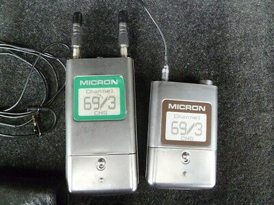 Micron 800mhz wireless diversity mic package