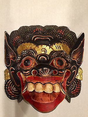 Vintage Authentic Tribal Demon Dance Mask, Hand Carved, Hand Painted