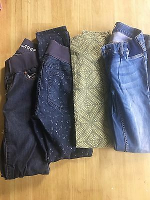 Size 8 3xMaternity Jeans & 1xCasual Pants
