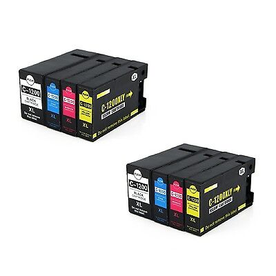 8x ink cartridge PGI-1200 XL BK C M Y compatible for Canon MAXIFY MB2020