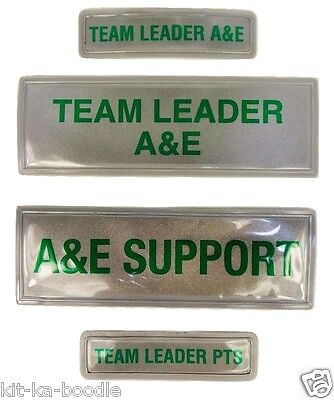 Encapsulated Reflective Team Leader A&E Support PTS Medic Sew Chest Back Patch