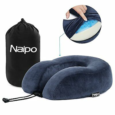 Naipo Travel Pillow Luxurious Memory Foam Massage Pillows Neck Support for Midda