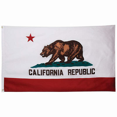 3 x 5ft California State Flag Grommets Indoor Outdoor America Polyester Banner A