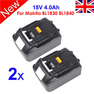 2 X 18V 4.0Ah Lithium Ion Battery Replace For Makita LXT BL1840 BL1830 BL1815 UK