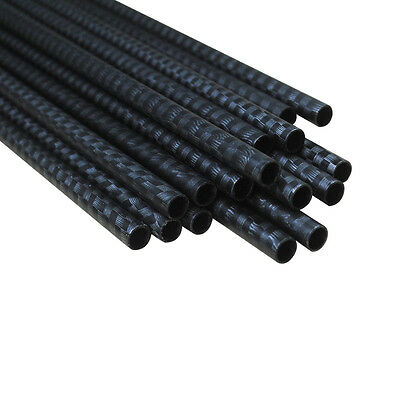 "12X 30"" Arrow Shafts Carbon 3K Weave SP340/400 ID 6.2mm Archery Hunting 0.006''"