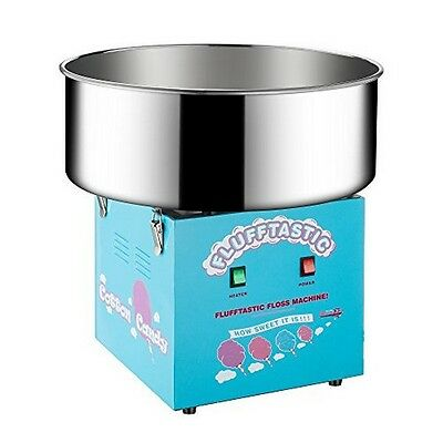 Cotton Candy Machine Flufftastic Floss Maker Electric Blue NEW