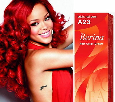 Berina A23 Bright Red Hair Dye Permanent Shade Hair Color Cream