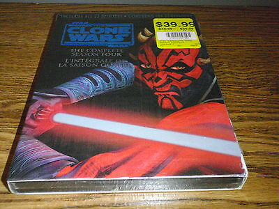 Star Wars The Clone Wars Complete Season Four 4 Dvd Box Set New Sealed