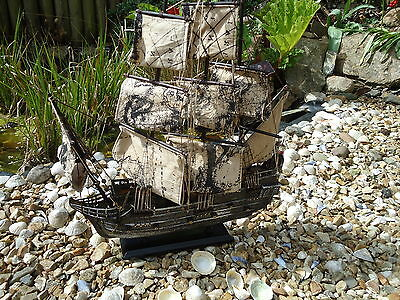 Large Pirates Ship On Stand Canvas Sails Wood Mast Lots Of Detail The Caribbean