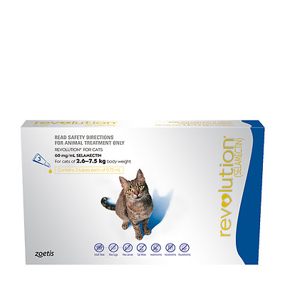 Revolution For Cats   Flea And Worming   Blue (6 Pack)