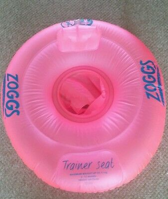 ZOGGS BABY SWIMMING TRAINER SEAT 12-18 MONTHS Pink