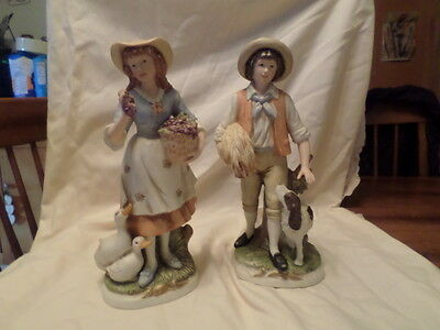 Home Interiors  Vintage Pair Of Large Porcelain Figures 8805