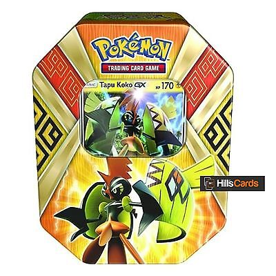 Pokemon TCG Tapu Koko GX Summer 2017 Collectors Tin: Booster Packs + Promo Card
