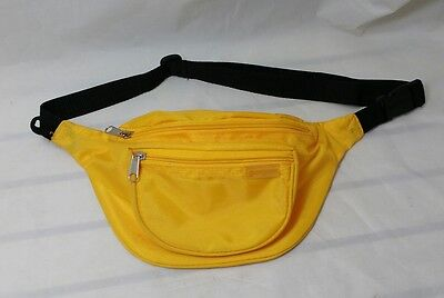 VINTAGE EASTSPORT Fanny Pack Waist Bag BRIGHT YELLOW Nylon Adjustable