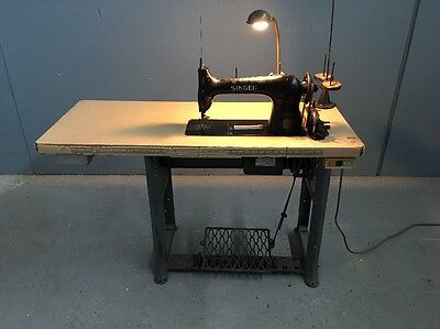 Singer 31-15 Heavy Duty Industrial Sewing Machine With Table & Motor