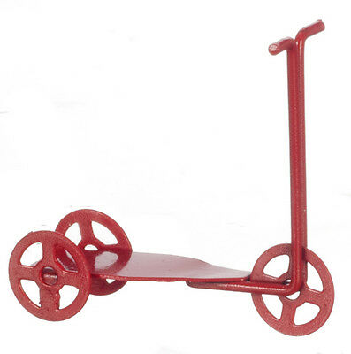Red Metal Scooter, Doll House Miniature, Nursery & Toys, 1.12 Scale