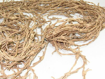 Leather barbed wire, 25 yards of natural color made with 2 mm  cords.... 02574
