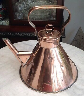 LARGE Unusual and rare Christopher dresser style copper Teapot / Kettle