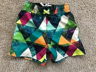 Toddler Boys 2T Circo Swim Trunks Geometric Shapes Worn Once-Excellent Condition
