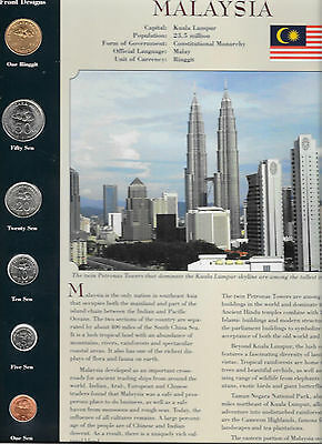 Coins around the World  Malaysia 1995-2004 1 Ringgit 1995 1,10,20,50 Sen 2004