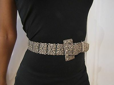 Antique Silver Plate Belt. To Fit 26inch Waist