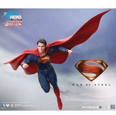 Dragon Action Heroes 1/9 Superman Man Of Steel Vignette Figure Not Hot Toys