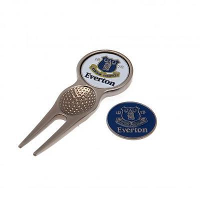 Official Licensed Football Product Everton Divot Tool & Golf Ball Marker New