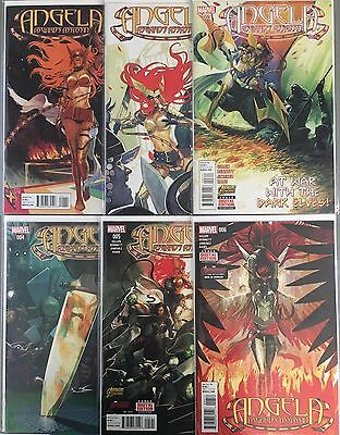 Set of 6: Angela: Asgard's Assassin # 1 - 2 - 3 - 4 - 5 - 6 Marvel 2015 VF#