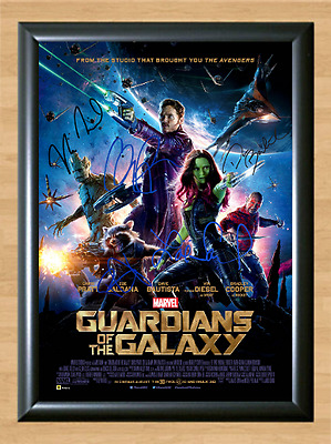 Guardians of the Galaxy Cast Signed Autographed A4 Photo Poster Memorabilia dvd