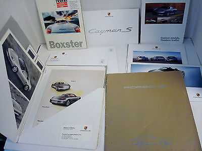 Lot of PORSCHE Brochures Press Kit Photos Slides from the 1990s