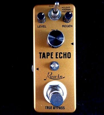 Rowin LEF-3809 Mini 3 in 1 Tape Echo Guitar Effect Pedal with True By-Pass