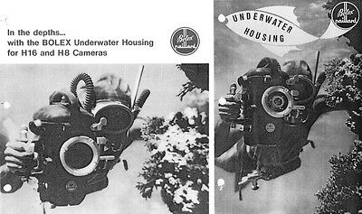 Bolex Underwater Housing Instruction Manual + Brochure for H16 & H8: 2 Items