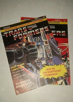 Transformers comic UK issues 5 and 6 Marvel 1984 G1
